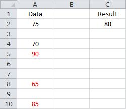Averaging the Last 3 Values - With Blank Cells in the Data