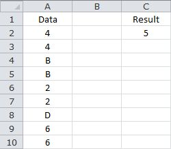 Counting Unique Values - With Data Containing Numerical and/or Text Values in a One Dimensional Range